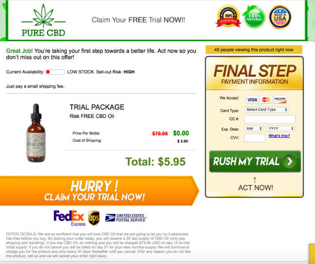 Cannabidiol Oil FREE TRIAL – High Grade CBD Oil Miracle Drop