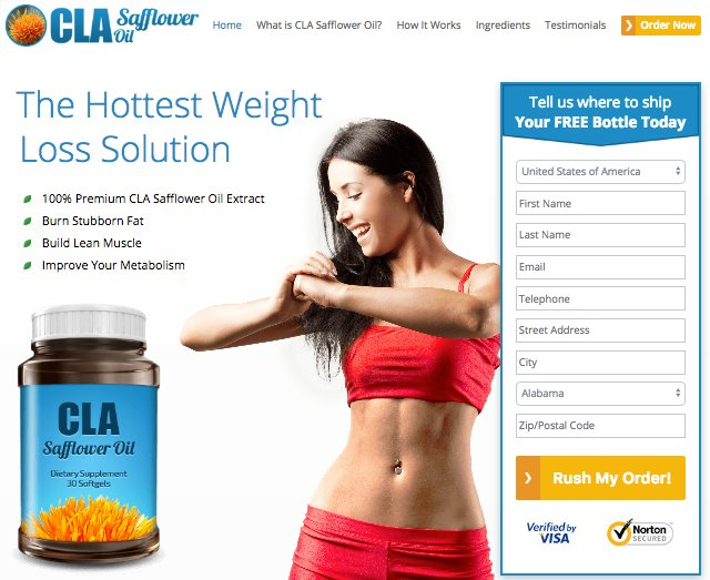 cla safflower oil reviews