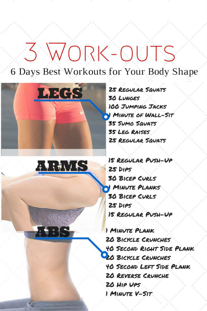 6 Days Best Workout for Your Body Shape
